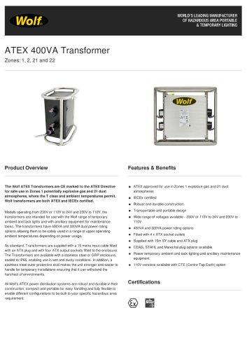 ATEX 400VA Transformer
