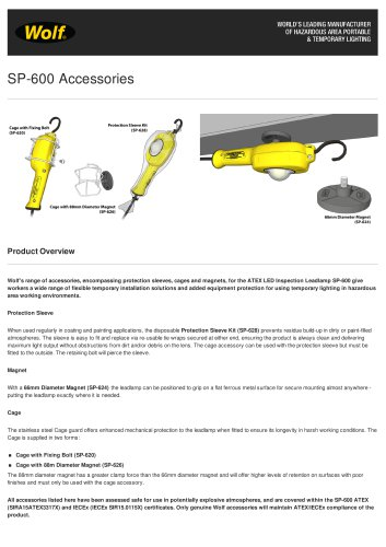 ATEX LED Inspection Leadlamp Accessories