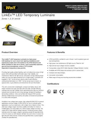LinkEx™ LED Temporary Luminaire
