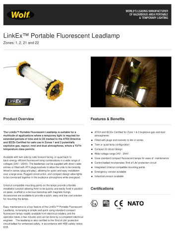 LinkEx™ Portable Fluorescent Leadlamp Emergency