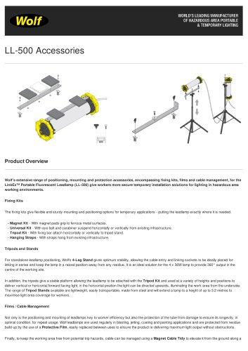 LL-500 Accessories
