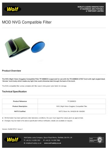 MOD NVG Compatible Filter