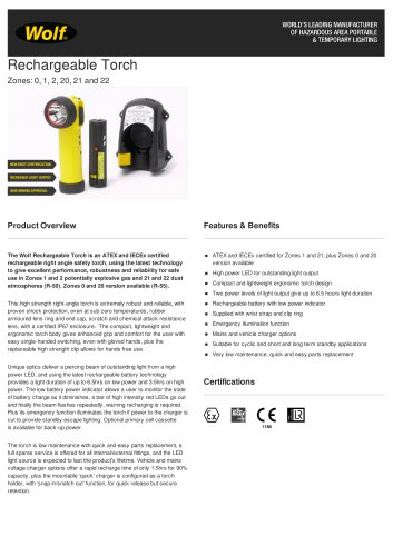 R-50/R-55 Rechargeable Torch
