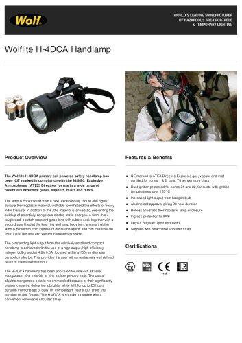 Wolflite H-4DCA Handlamp
