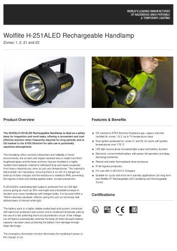WOLFLITE HANDLAMP H-251A\LED