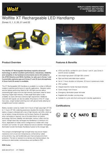 Wolflite XT Rechargeable LED Handlamp