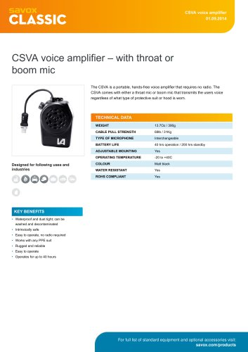 CSVA voice amplifier ? with throat or boom mic