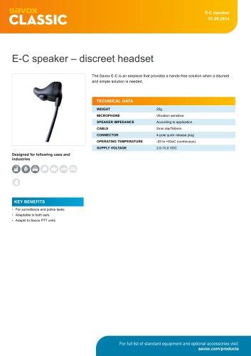 E-C speaker ? discreet headset