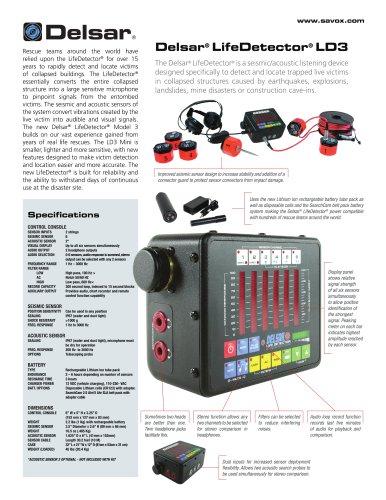 Lifedetector LD3 / Mini Brochure