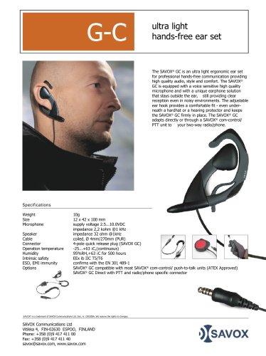 SAVOX® G-C ultra-light hands-free ear set