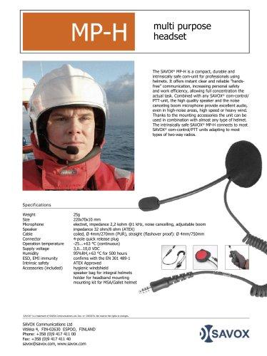 SAVOX® MP-H multi-purpose headset