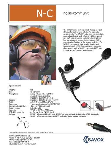 SAVOX® N-C noise-com unit