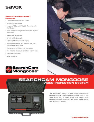 Searchcam Mongoose Video Inspection System Brochure - See more at: http://www.savox.com/knowledge-center/factsheets-brochures/searchcam-mongoose-video-inspection-system-brochure/#sthash.9ZPSJwCG.dpuf