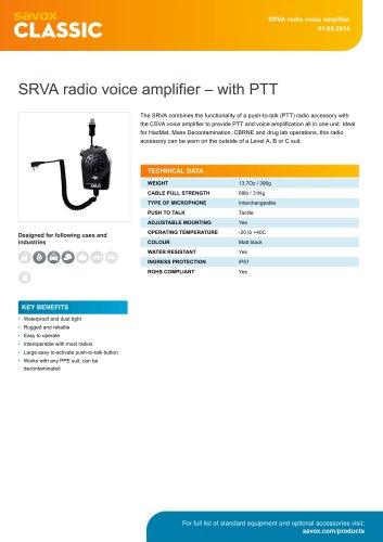 SRVA radio voice amplifier ? with PTT