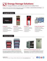 EnergyCell ® Batteries and Enclosure Systems from OutBack Power
