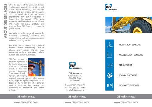 DIS Sensors leaflet 2014