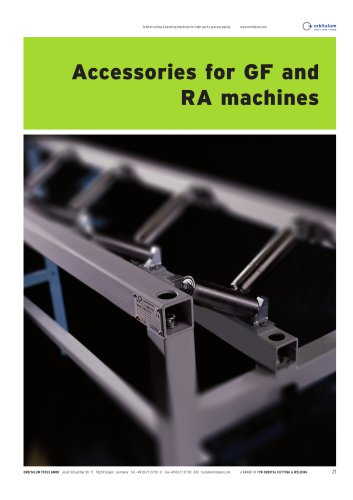 Accessories for GF and RA machines