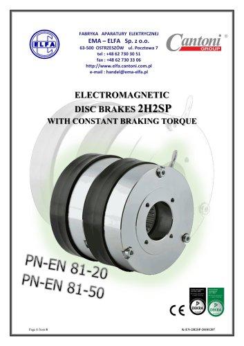 2H2SP series - electromagnetic disc brakes