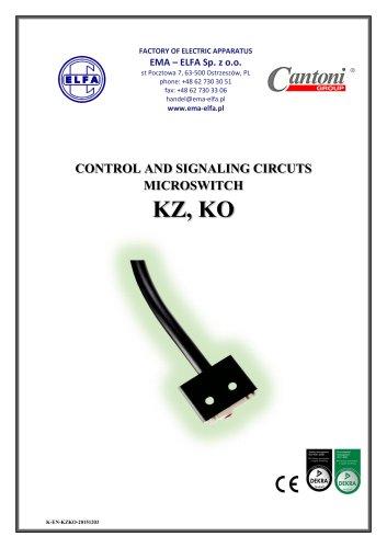 CONTROL AND SIGNALING CIRCUTSMICROSWITCHKZ, KO