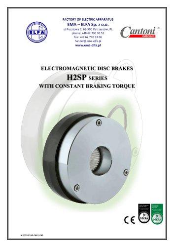 H2SP series - electromagnetic disc brakes