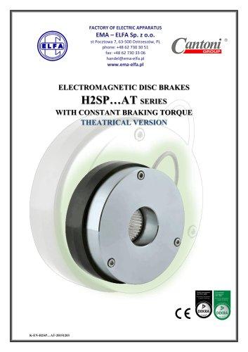 H2SP…AT series - electromagnetic disc brakes