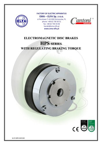 HPS series - electromagnetic disc brakes