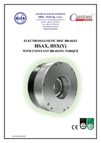 HSAX, HSX(Y) series - electromagnetic disc brakes