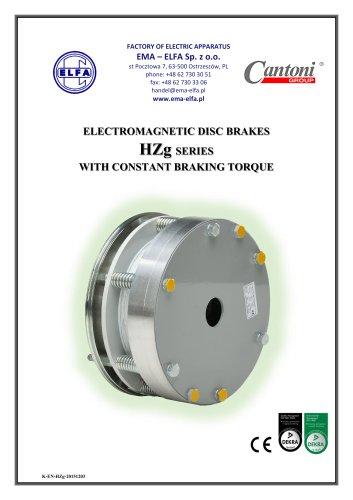HZg series - electromagnetic disc brakes