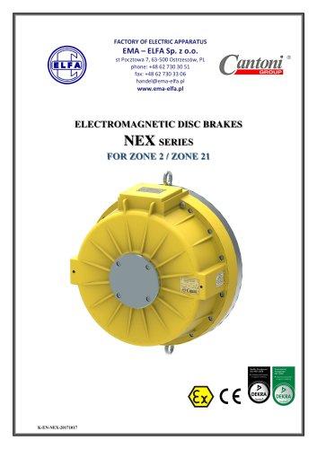 NEX series - electromagnetic disc brakes
