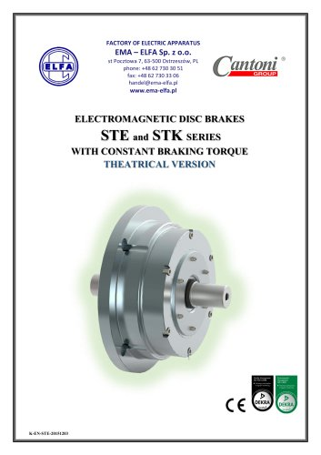 STE and STK series - electromagnetic disc brakes