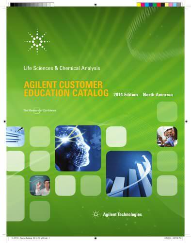 2014 AGILENT CUSTOMER EDUCATION CATALOG