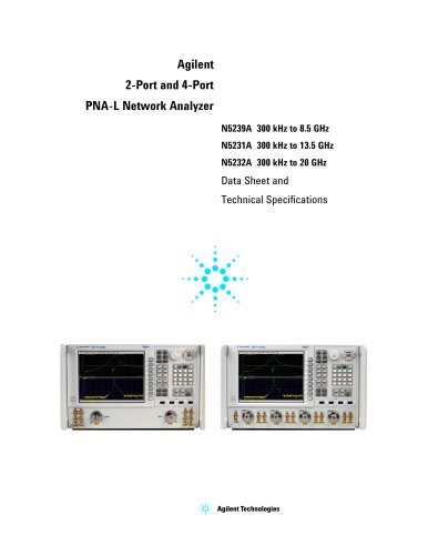 Agilent  2-Port and 4-Port  PNA-L Network Analyzer