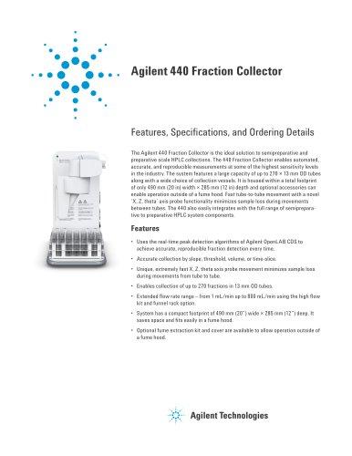 Agilent 440 Fraction Collector
