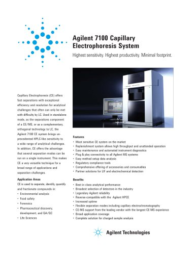 Agilent 7100 Capillary Electrophoresis System