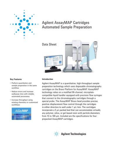 Agilent AssayMAP Cartridges Automated Sample Preparation