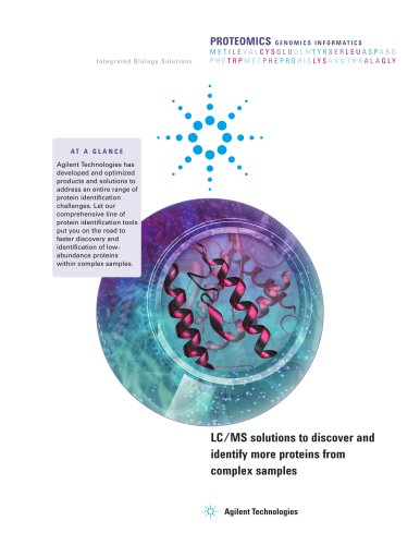 Agilent Protein Identification Solutions