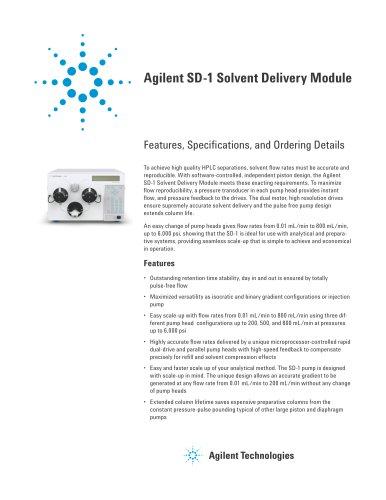 Agilent SD-1 Solvent Delivery Module