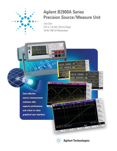 B2900A Series Precision Source/Measure Unit Product