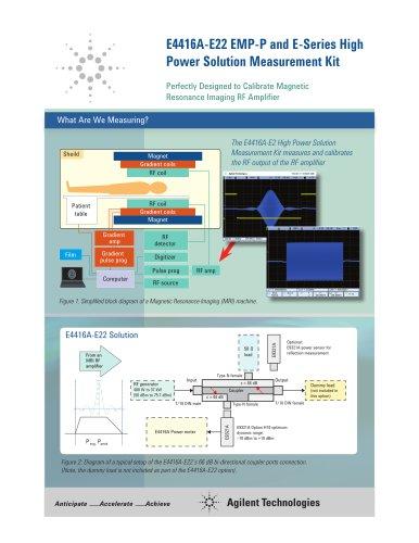 E4416A-E22 EMP-P and E-Series High Power Solution Measurement Kit