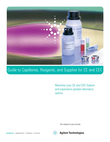 Guide to Capillaries, Reagents, and Supplies for CE and CEC
