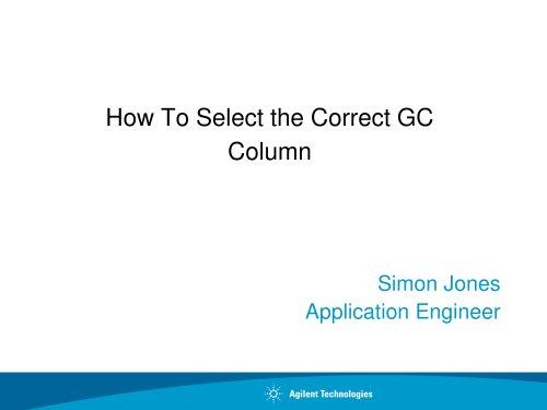 How to Select the Correct GC Column