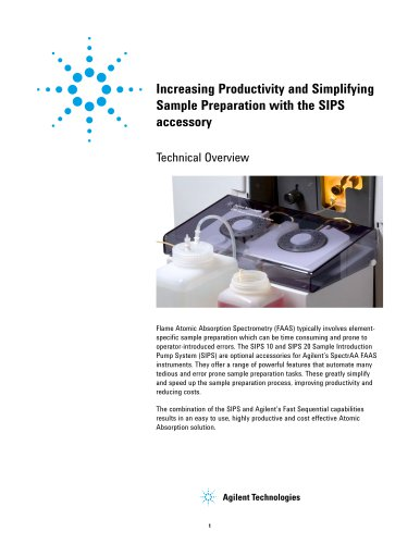 Increasing Productivity and Simplifying Sample Preparation with the SIPS accessory