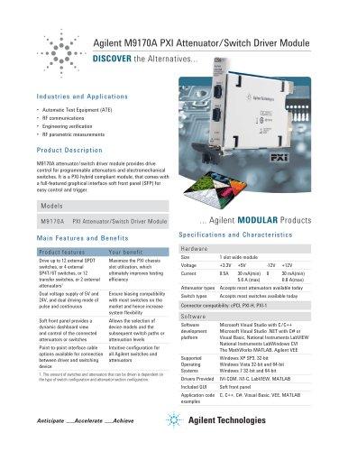 M9170A PXI Attenuator/Switch Driver Module