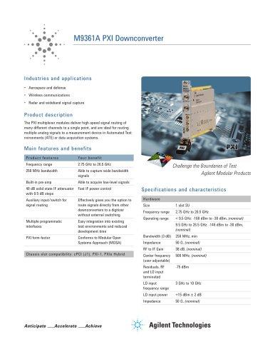 M9361A PXI Downconverter
