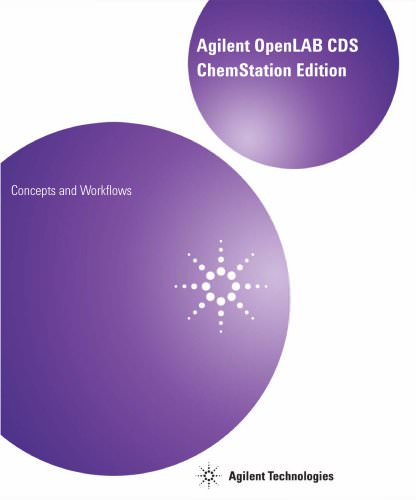 OpenLAB CDS ChemStation Edition Concepts And Workflows