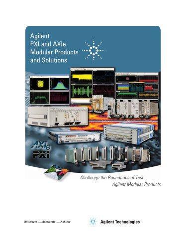 PXI and AXIe Modular Products and Applications
