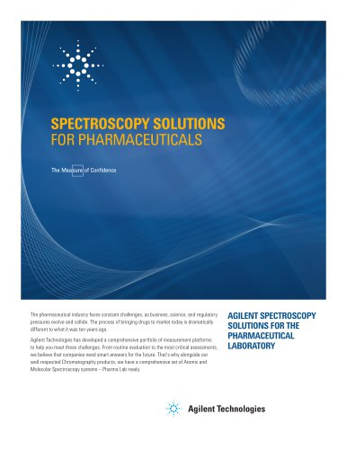 SPECTROSCOPY SOLUTIONS FOR PHARMACEUTICALS