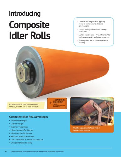 Introducing Composite Idler Rolls