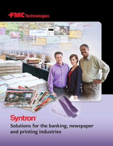 Solutions for the banking, newspaper and printing industries