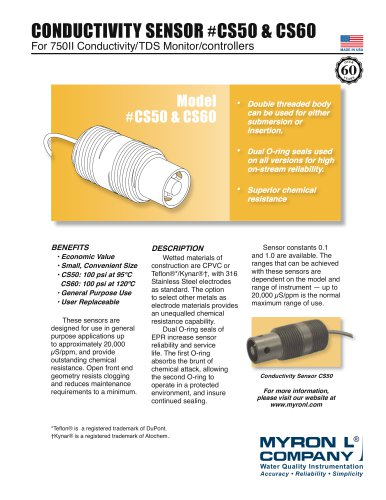 CONDUCTIVITY SENSOR #CS50 & CS60